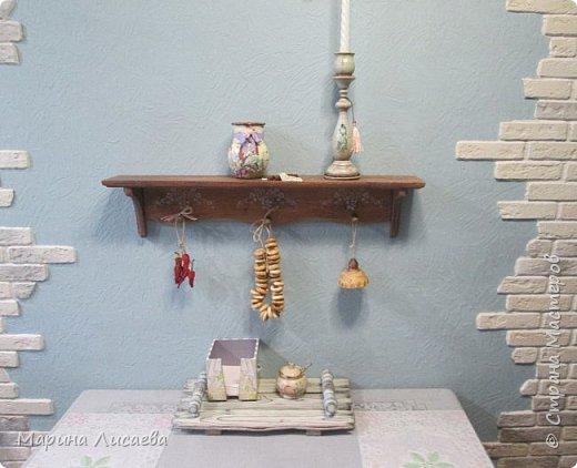 Здравствуйте, мои дорогие жители СМ! В имеющееся свободное времечко продолжаю декорировать свою кухню. На этот раз подсвечник и полочка. фото 9