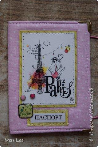 """Здравствуйте, дорогие жители Страны. Я к вам с очередной партией текстильных обложек на паспорт. Эта серия получилась полностью """"парижской"""". Все картинки и """"бумажки"""" заламинированы фото 4"""