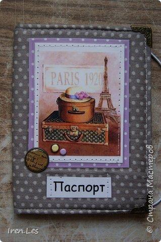 """Здравствуйте, дорогие жители Страны. Я к вам с очередной партией текстильных обложек на паспорт. Эта серия получилась полностью """"парижской"""". Все картинки и """"бумажки"""" заламинированы фото 8"""