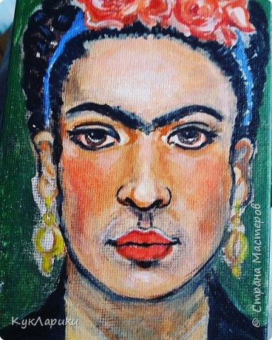 Добрый день. Я уже писала,что очень люблю Фриду Кало. И это моя третья кукла. фото 9