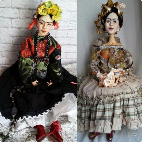 Добрый день. Я уже писала,что очень люблю Фриду Кало. И это моя третья кукла. фото 8