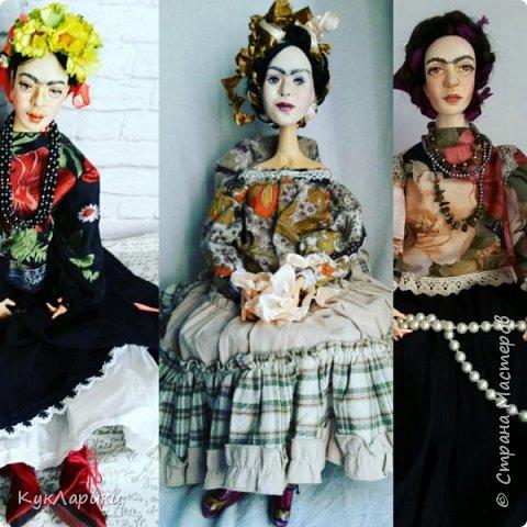 Добрый день. Я уже писала,что очень люблю Фриду Кало. И это моя третья кукла. фото 7