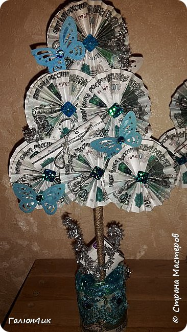 Всем жителям прекрасной страны доброго дня!!! От денежных деревьев остались заготовки... и в ожидании новогодних праздников решила сделать денежные елочки!!!  фото 4