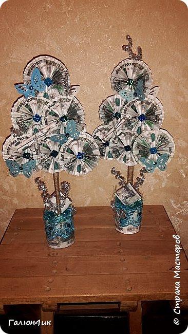 Всем жителям прекрасной страны доброго дня!!! От денежных деревьев остались заготовки... и в ожидании новогодних праздников решила сделать денежные елочки!!!  фото 5