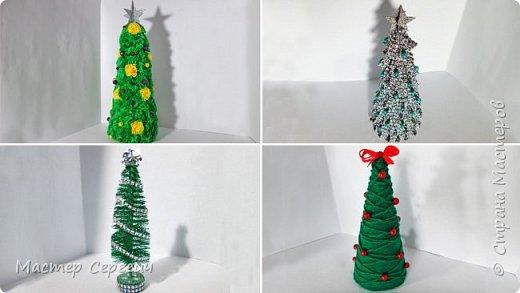 10 новогодних елок из разных материалов. Новогодние поделки