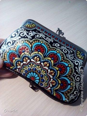 """Любимая модель моих заказчиков - Бабушкин кошелек с """"поцелуйчиками"""". фото 3"""