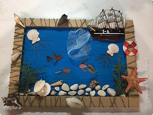 Картина из природного материала в школу фото 3