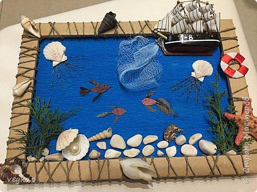 Картина из природного материала в школу фото 2