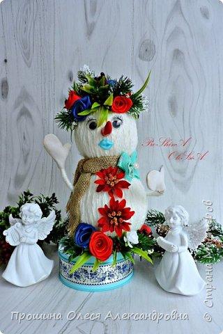 Всем Привет!Вот и приближается к нам Новый Год!А у меня появился вот такие дружочки-Снеговики!Станут великолепным подарком для украшения праздничного стола и комнаты,или поставить под елочку!Спешите за подарками для близких и Родных! фото 1