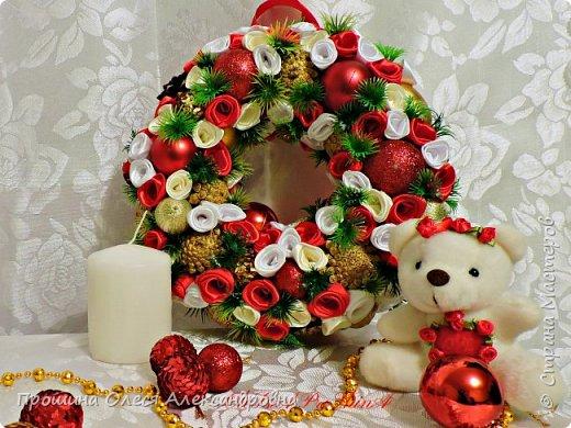 """""""Новогодние Венки""""для украшения прихожих,дверей и стен! фото 3"""