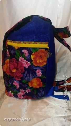 Рюкзак из павло-посадского платка и фетра. фото 1