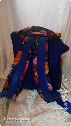 Рюкзак из павло-посадского платка и фетра. фото 2