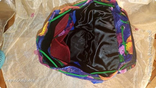 Рюкзак из павло-посадского платка и фетра. фото 4