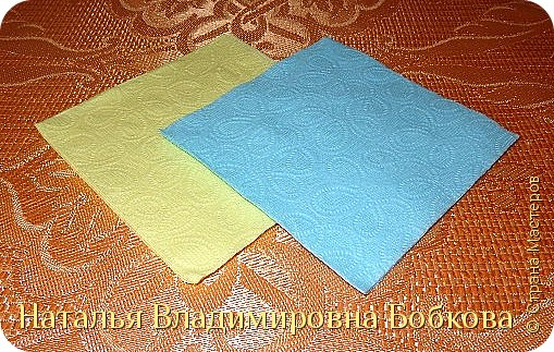 Мастер-класс  по изготовлению панно  «Цветок»   из бумажных салфеток.  фото 3