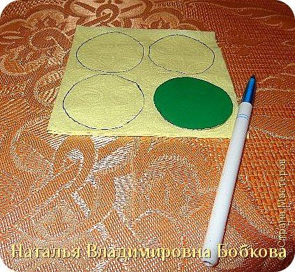 Мастер-класс  по изготовлению панно  «Цветок»   из бумажных салфеток.  фото 11