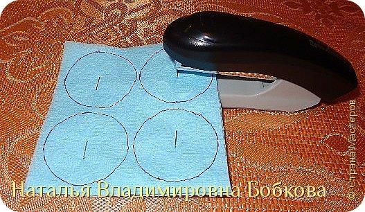 Мастер-класс  по изготовлению панно  «Цветок»   из бумажных салфеток.  фото 9