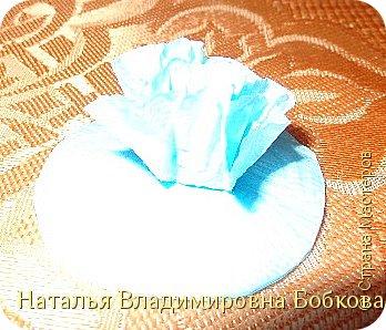 Мастер-класс  по изготовлению панно  «Цветок»   из бумажных салфеток.  фото 16