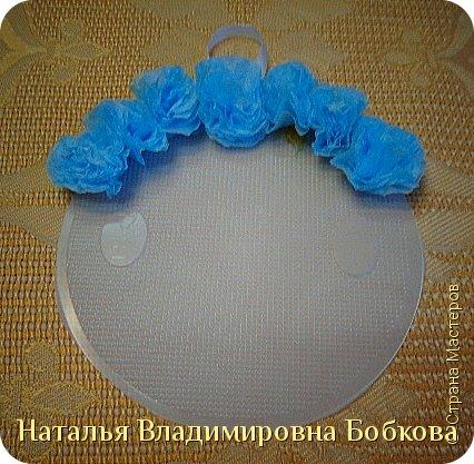 Мастер-класс  по изготовлению панно  «Цветок»   из бумажных салфеток.  фото 25