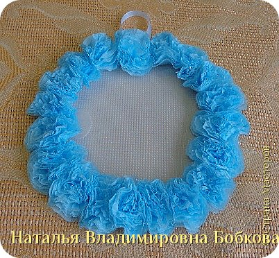 Мастер-класс  по изготовлению панно  «Цветок»   из бумажных салфеток.  фото 27