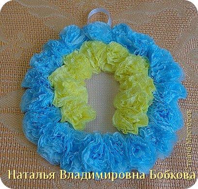 Мастер-класс  по изготовлению панно  «Цветок»   из бумажных салфеток.  фото 29