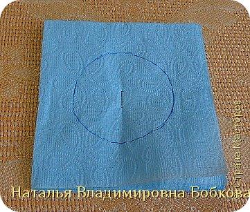 Мастер-класс  по изготовлению панно  «Цветок»   из бумажных салфеток.  фото 32