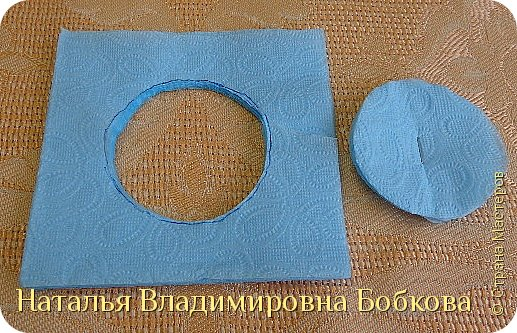 Мастер-класс  по изготовлению панно  «Цветок»   из бумажных салфеток.  фото 33