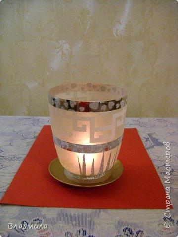 Вот такой светильник можно приготовить для праздничного ужина. фото 1