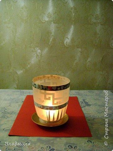 Вот такой светильник можно приготовить для праздничного ужина. фото 2