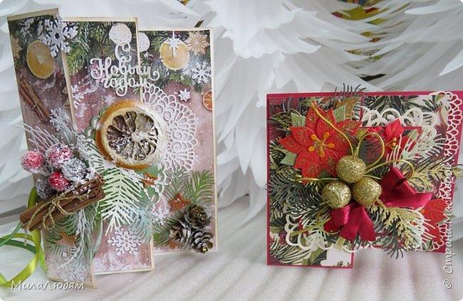 """Всем здравствуйте! отчитываюсь за IV ЭТАП СТ """"Семь чудесных открыток"""" -""""Открытка-раскладушка"""":  ТЕМА - Новый год, Рождество, зима ФОРМА - любая (прямоугольник, квадрат, трапеция и т.д.) Три года назад, когда я пришла в скрап, я увидела открытку, которая запала в душу. Я ее повторила дважды и каждый раз, как оказалось, неправильно, средний ярус я вклеивала, а надо было сгибать. (я потом нашла МК)http://stranamasterov.ru/node/827683 и  http://stranamasterov.ru/node/826879    И вот теперь я ее сделала правильно. Назвала я ее """"Корица и апельсин"""" ОУ (обязательное условие) - вертикальные грани (сгибы) фото 36"""