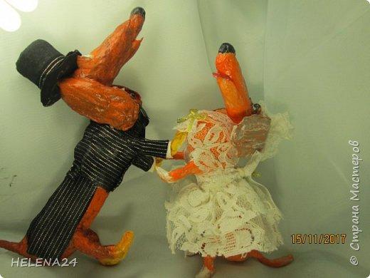 У людей Новый Год,а у меня таксы женятся....Это всё Жулька виновата.Не захотела как все свитер и юбку......а пока я ей тут фасончики предлагала,она и вовсе с Жулем познакомилась и замуж захотела.... фото 5