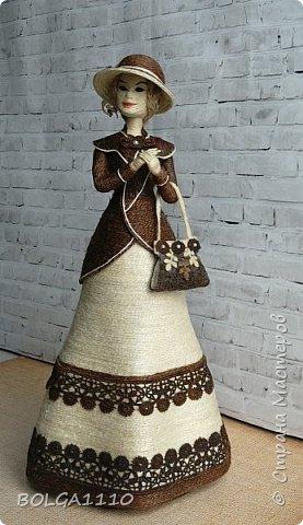 Шпагатная кукла-шкатулка фото 2