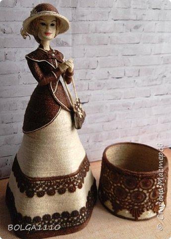 Шпагатная кукла-шкатулка фото 1