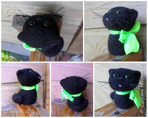Котики валяные фото 12