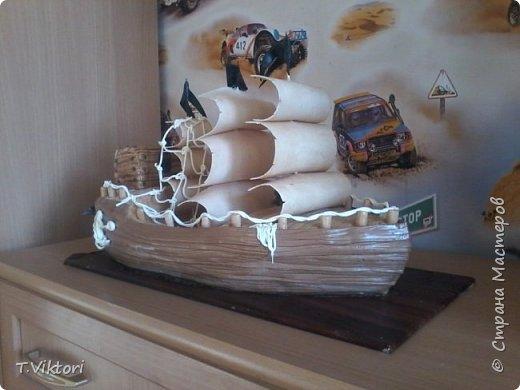 Тортик -корабль, сынульке на 5лет, сейчас ему уже 8. фото 1