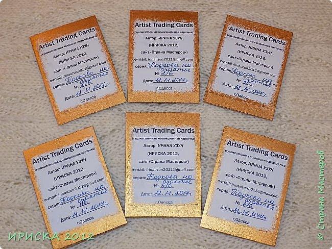 Привет всем гостям моей странички! Я с новой серий карточек АТС. На этот раз это подковы, приносящие счастье!!! фото 16