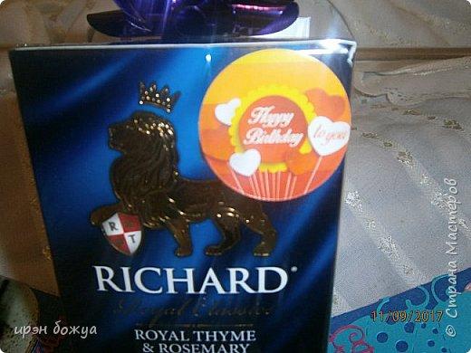 Сегодня у меня поздравительная коробовка для чая и шоколадки. Она не квадратная, а по форме коробки чая. в работе использовала, вырубки,стразы, наклейки, картинки. фото 13