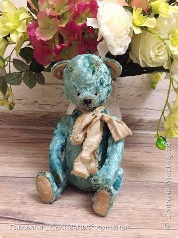 Бирюзовый малыш-мишка тедди Савушка фото 2