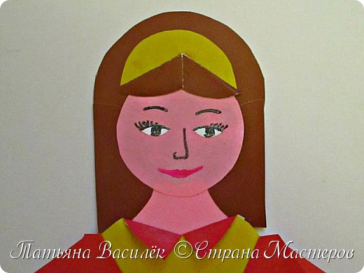 Работа для выставки к Дню Матери в детский сад. Размер - формат А3. фото 10
