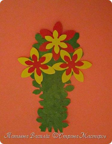 Работа для выставки к Дню Матери в детский сад. Размер - формат А3. фото 25