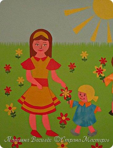 Работа для выставки к Дню Матери в детский сад. Размер - формат А3. фото 2