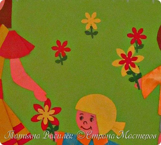 Работа для выставки к Дню Матери в детский сад. Размер - формат А3. фото 27
