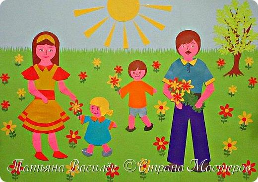 Работа для выставки к Дню Матери в детский сад. Размер - формат А3. фото 1