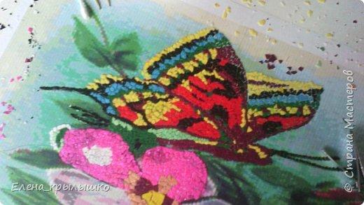 Приветствую всех мастериц ! Дорогие мои,представляю свою первую мозаику !!!  Задумка появилась весной,но решилась намного позже! В мае-месяце нашла в инете картинку,распечатала (это для вышивки крестом),наклеила...и долго не решалась начать!!!  фото 1