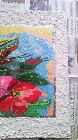 Приветствую всех мастериц ! Дорогие мои,представляю свою первую мозаику !!!  Задумка появилась весной,но решилась намного позже! В мае-месяце нашла в инете картинку,распечатала (это для вышивки крестом),наклеила...и долго не решалась начать!!!  фото 3