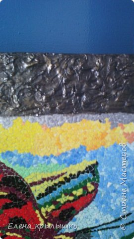 Приветствую всех мастериц ! Дорогие мои,представляю свою первую мозаику !!!  Задумка появилась весной,но решилась намного позже! В мае-месяце нашла в инете картинку,распечатала (это для вышивки крестом),наклеила...и долго не решалась начать!!!  фото 4