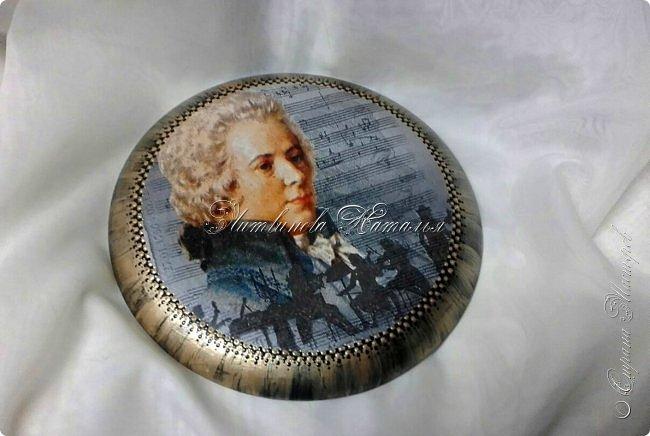 Все как обычно, гипс, декупаж, ночь................ Сегодня я к Вам с Моцартом ...и птицами.... фото 1