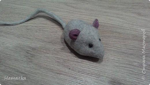 Текстильная мышка для кошки. В наполнителе немного травы валерианы.