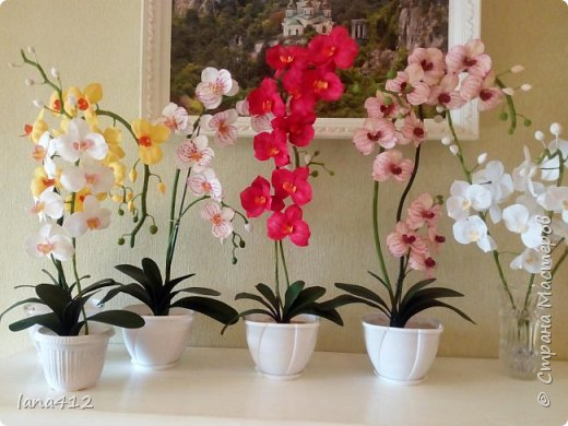 очень захотелось сделать орхидеи! фото 1
