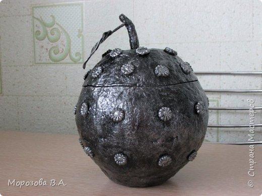 """""""Поспело"""" у меня яблочко из папье-маше да не простое,а  стальное! фото 10"""