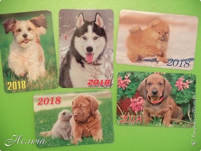 """Первая серия """"Собаки"""". Согласно восточному гороскопу, символом 2018 года станет желтая земляная Собака. Вот и я решила сделать своих собачек из соленого теста и позолотить. Украсила карточки кружевными цветочками и маленькими стразами.  фото 15"""